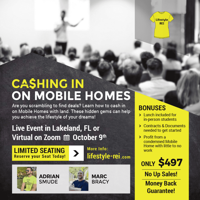lifestyle rei - Cashing in on Mobile Homes Class flyer