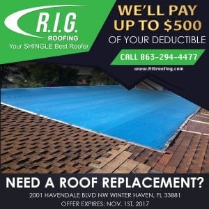 RIG Roofing - up to $500 of your deductible!