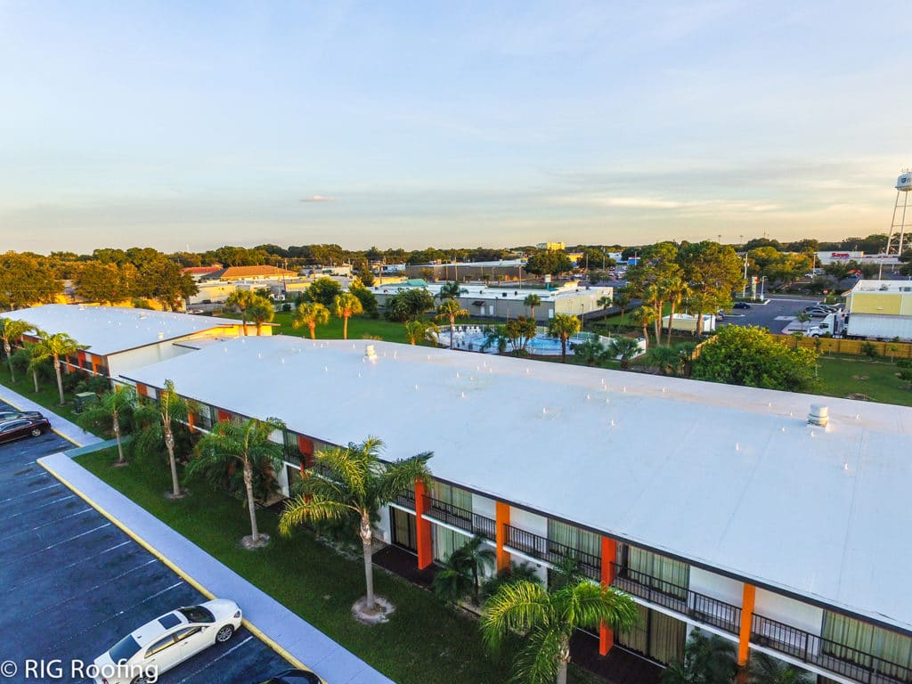 Aerial Howard Johnson Winter Haven, FL  RIG Roofing Increase Curb Appeal and Property Value