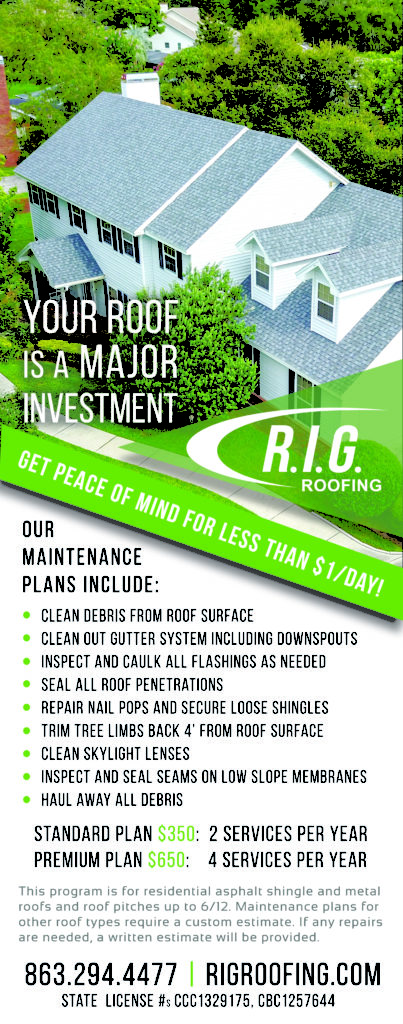 R.I.G. Roofing Roof Maintenance Florida