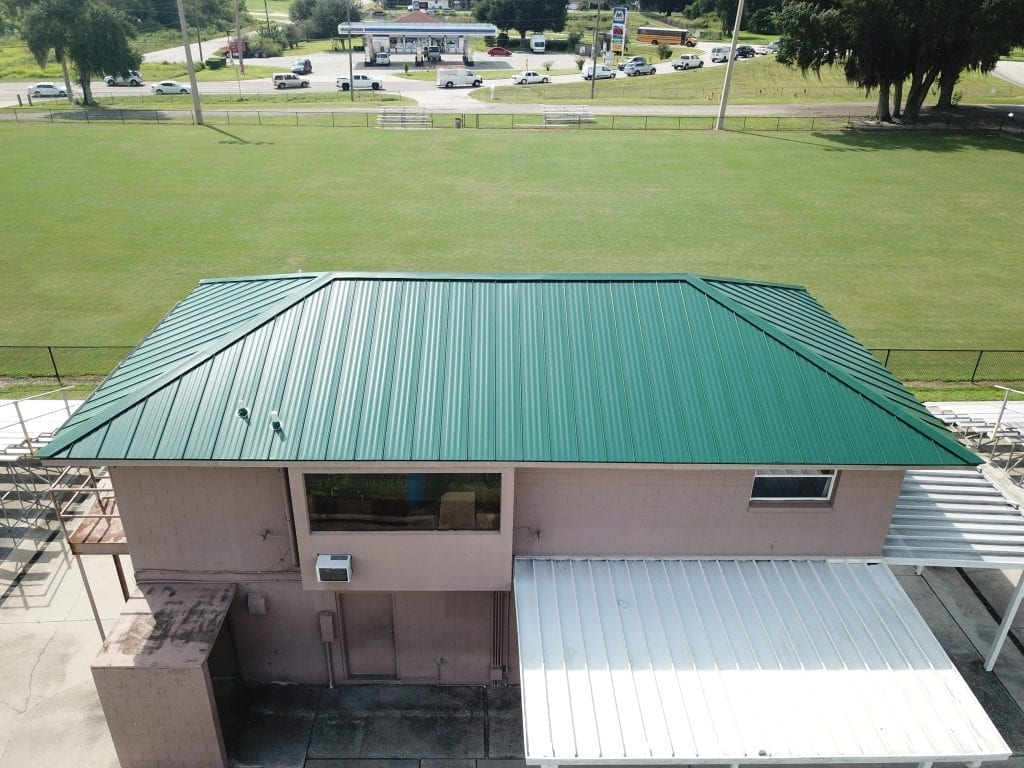 R.I.G. Roofing Donates New Metal Roof for Sertoma Park Concession Stand